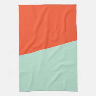 TWO-COLORED ORANGE RED AND MAGIC MINT | TOWEL