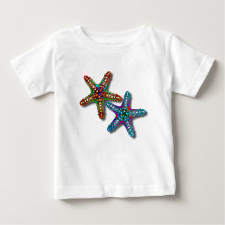 Two Colorful Abstract Psychedelic Starfish Drawing Baby T-Shirt