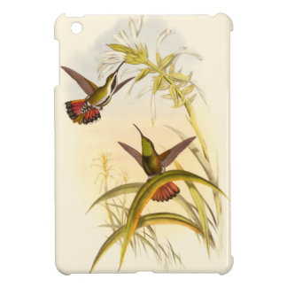 Two Colorful Hummingbirds Aiming for Same Flower iPad Mini Covers