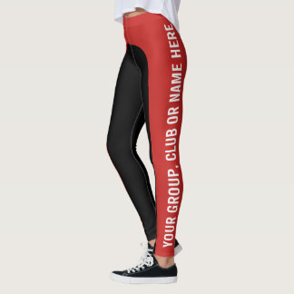 Two Colour Customisable Named Leggings