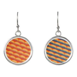 Two Colour Soft Bricks Earrings