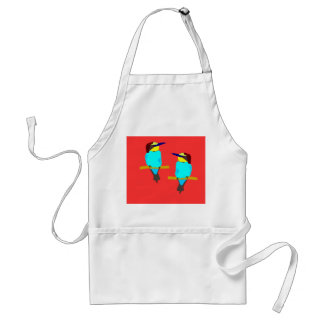 Two Colourful Birds Apron