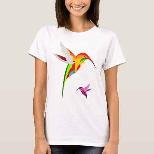 Two Colourful Flying Hummingbirds T-Shirt