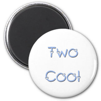 Two Cool Blue 6 Cm Round Magnet