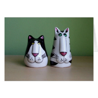 Two Cool Cats Greeting Card