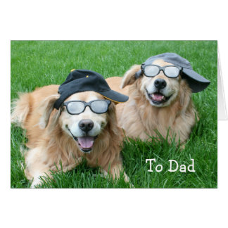 Two Cool Golden Retrievers Father's Day Card