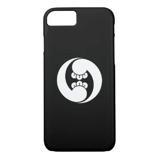 Two counterclockwise clove swirls iPhone 7 case