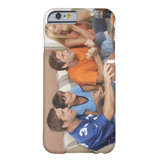Two couples watching football in living room barely there iPhone 6 case