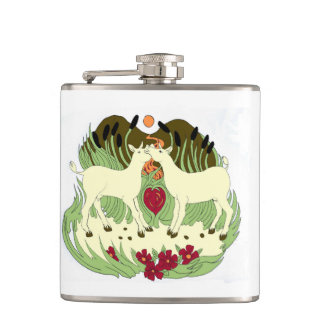 Two Cows Hip Flask