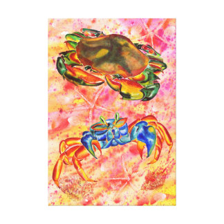 Two crabs canvas print