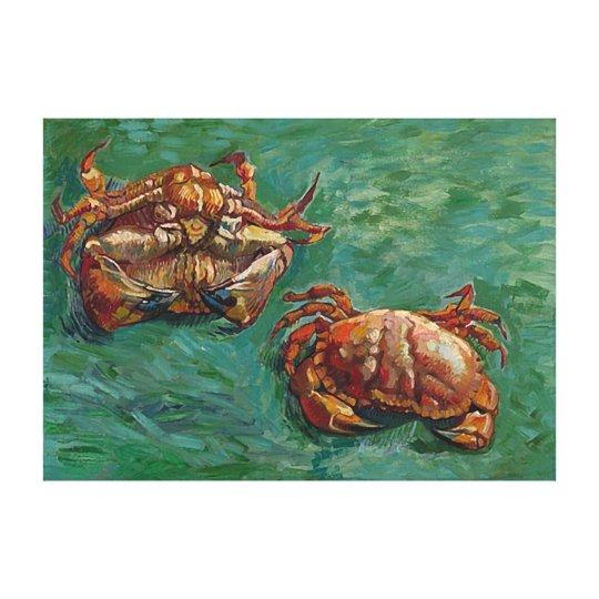 Two Crabs (F606) Van Gogh Fine Art Canvas