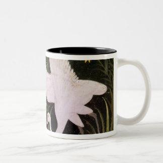 Two Cranes on the Edge of a Pond Two-Tone Coffee Mug