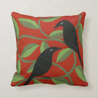 Two Crows for Joy Pillow