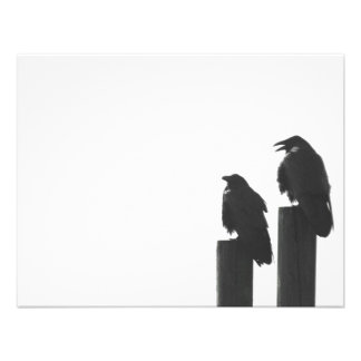 Two crows on posts custom invite
