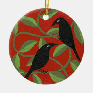 Two Crows Ornament