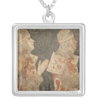 Two crusaders of the Minutolo family Silver Plated Necklace