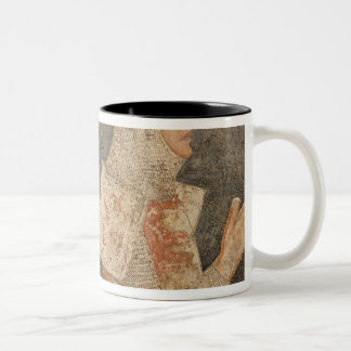 Two crusaders of the Minutolo family Two-Tone Coffee Mug
