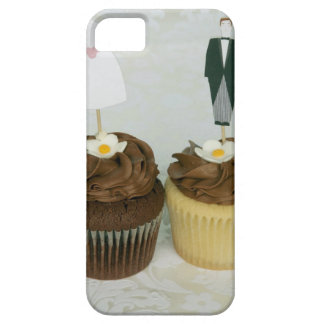 Two cupcakes with toy bride and groom on them case for the iPhone 5