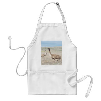 two curious emu s aprons