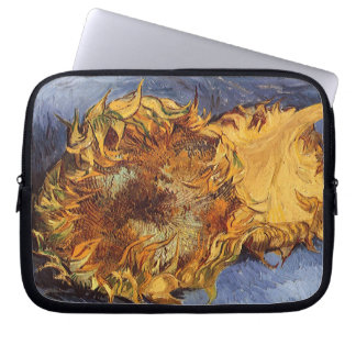 Two Cut Sunflowers by Vincent van Gogh Laptop Sleeve