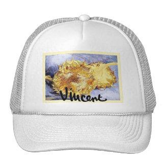 Two Cut Sunflowers~Vincent van Gogh ~ Fine Art Trucker Hats