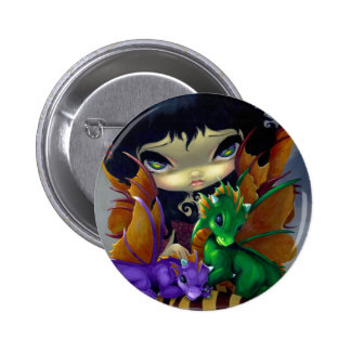Two Cute Dragonlings Button