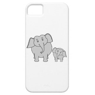 Two Cute Elephants. Cartoon. Case For The iPhone 5