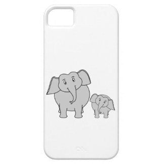 Two Cute Elephants. Cartoon. iPhone 5 Cases