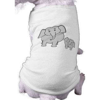 Two Cute Elephants. Cartoon. Shirt