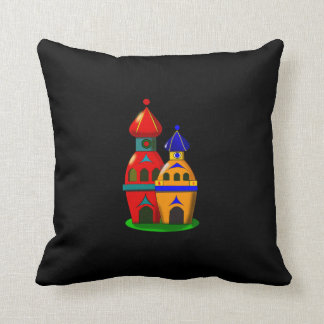 Two cute little houses Throw Pillow