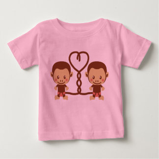 Two cute Monkeys Baby T-Shirt