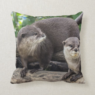 Two Cute Otters | Otter Cushion