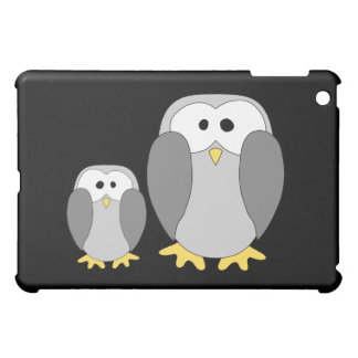 Two Cute Penguins. Cartoon. iPad Mini Cases