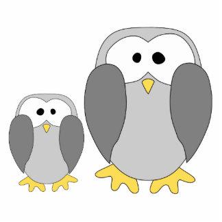 Two Cute Penguins. Cartoon. Photo Sculpture Decoration