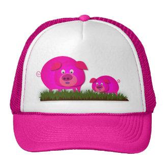 Two cute piglets cap