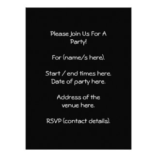 Two Cute White Elephants on Black Cartoon Personalized Announcement