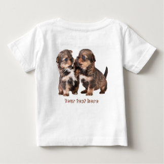 Two Cute Yorkshire Puppies Baby T-Shirt
