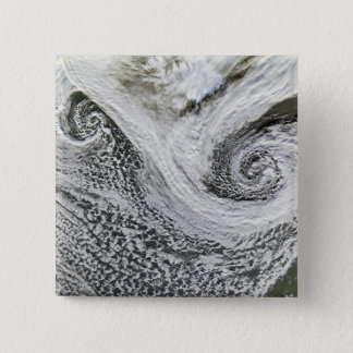 Two cyclones formed in tandem south of Iceland 15 Cm Square Badge