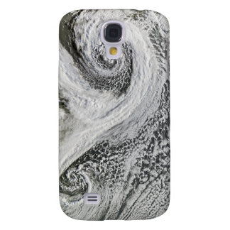 Two cyclones formed in tandem south of Iceland Galaxy S4 Case
