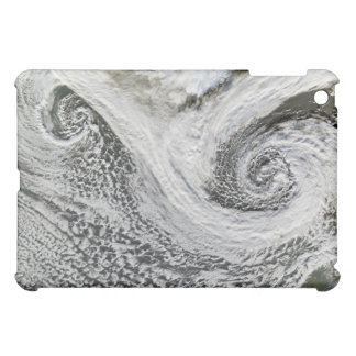 Two cyclones formed in tandem south of Iceland iPad Mini Covers
