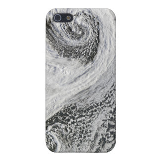 Two cyclones formed in tandem south of Iceland iPhone 5 Cover