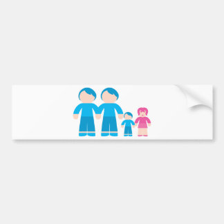 Two dads male Gay couple Family Bumper Sticker
