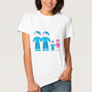 Two dads male Gay couple Family Tee Shirt