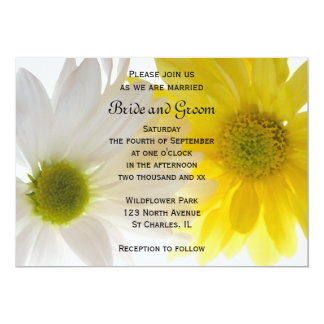 Two Daisies Wedding Invitation