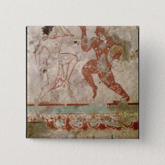 Two Dancers and Dolphins 15 Cm Square Badge