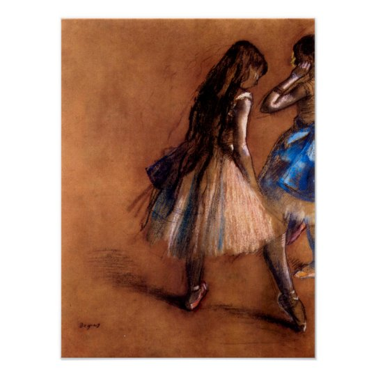 Two dancers by Edgar Degas Poster