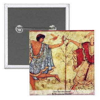 Two Dancers Detail By Etruskischer Meister Pinback Button