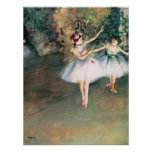 Two Dancers on a Stage by Edgar Degas, Vintage Art Poster