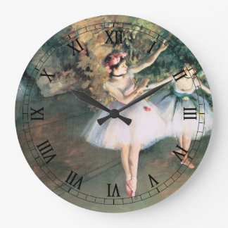 Two Dancers on a Stage by Edgar Degas, Vintage Art Wall Clocks