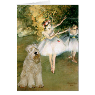 Two Dancers - Wheaten Terrier 7 Card